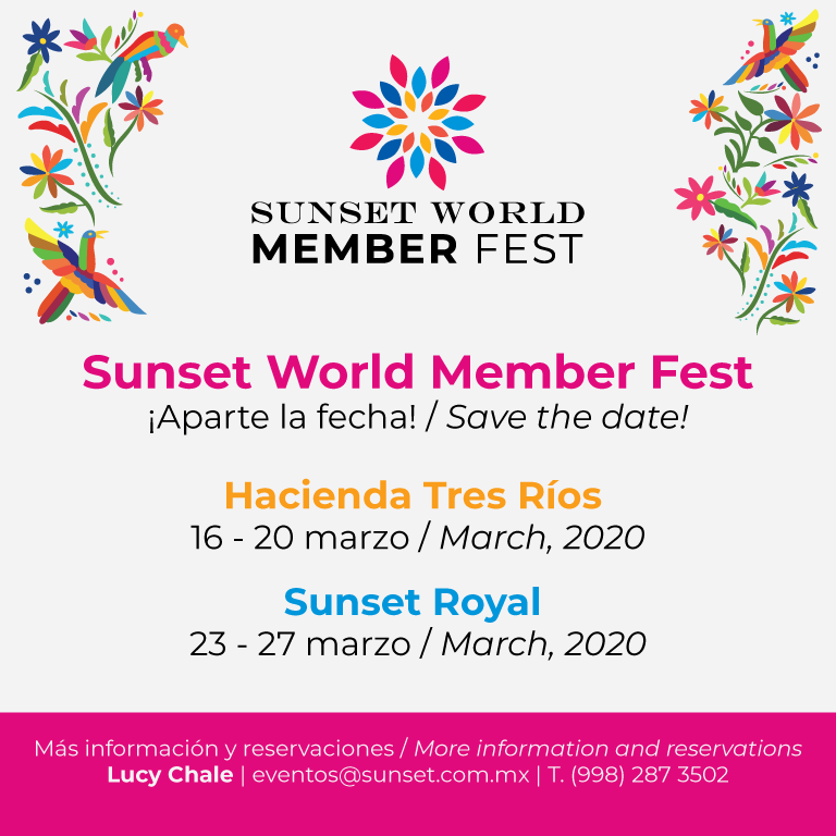 Sunset World Member Fest - Save the date!
