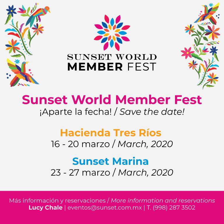 Sunset World Member Fest - Save the date!